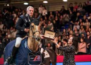 Roger Yves Bost FRA riding Sydney Une Prince with Elena Orozco Longines Spain Photo FEI/Lukasz Kowalski